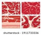 vector meat background or... | Shutterstock .eps vector #1911733336