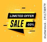 promotional sale banner... | Shutterstock .eps vector #1911738979