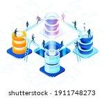 isometric 3d business...   Shutterstock .eps vector #1911748273