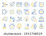 startup line icons. launch... | Shutterstock .eps vector #1911748519