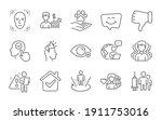 woman love  dislike hand and... | Shutterstock .eps vector #1911753016