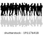 people silhouettes set | Shutterstock .eps vector #191176418