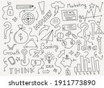 business icons hand drawn... | Shutterstock .eps vector #1911773890
