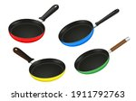 set of frying pan kitchen... | Shutterstock .eps vector #1911792763