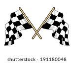 crossed waving motor sport... | Shutterstock .eps vector #191180048