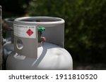Grey Gas Tank Storage Outdoors