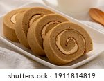 Cappuccino Roll Cake  Swiss...