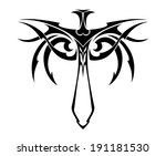 tribal sword with decorations... | Shutterstock .eps vector #191181530