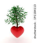 heart tree | Shutterstock . vector #191184113