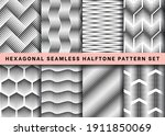 seamless hexagonal halftone... | Shutterstock .eps vector #1911850069