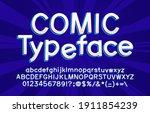 comic alphabet font.... | Shutterstock .eps vector #1911854239