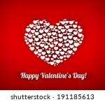 valentines composition of the... | Shutterstock .eps vector #191185613