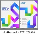 set abstract colorful geometric ...