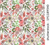 seamless floral pattern | Shutterstock .eps vector #191189540