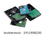 Pile Of Hard Disk Drive For...
