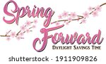 spring forward daylight savings ... | Shutterstock .eps vector #1911909826