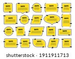 set of yellow isolated quote...   Shutterstock .eps vector #1911911713