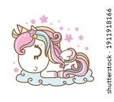 sweet unicorn  pony colorful ... | Shutterstock .eps vector #1911918166