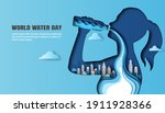 world water day  save water  a... | Shutterstock .eps vector #1911928366