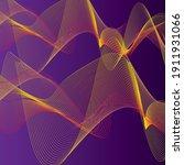 abstract line wave purple... | Shutterstock .eps vector #1911931066