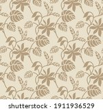 seamless vector textile floral... | Shutterstock .eps vector #1911936529