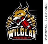 wildcat football team design... | Shutterstock .eps vector #1911939823