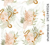 seamless pattern with blooming... | Shutterstock .eps vector #1911945526