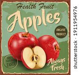 vintage health fruit apples...   Shutterstock .eps vector #1911954976
