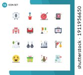 pack of 16 modern flat colors... | Shutterstock .eps vector #1911956650