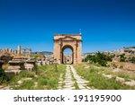 north gate  ancient roman city... | Shutterstock . vector #191195900