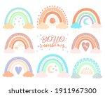 boho nursery rainbow set in...   Shutterstock .eps vector #1911967300