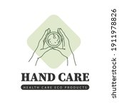 hand care emblem with two human ... | Shutterstock .eps vector #1911978826