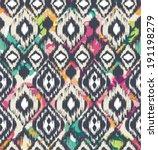 seamless ethnic  vector print... | Shutterstock .eps vector #191198279