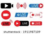 live streaming  broadcasting ... | Shutterstock .eps vector #1911987109