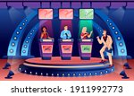 erudite television show flat...   Shutterstock .eps vector #1911992773