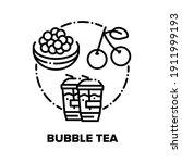 bubble tea drink vector icon... | Shutterstock .eps vector #1911999193
