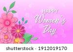 happy women's day. template for ...   Shutterstock . vector #1912019170
