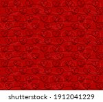 the seamless red background... | Shutterstock . vector #1912041229