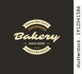 bakery badge or label retro... | Shutterstock .eps vector #1912041586