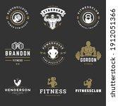 fitness center and sport gym...   Shutterstock .eps vector #1912051366