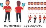 character for animation mouth... | Shutterstock .eps vector #1912064050