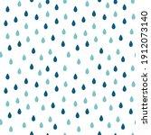 water drops seamless pattern....   Shutterstock .eps vector #1912073140