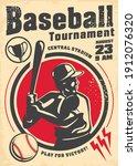 baseball tournament vintage... | Shutterstock .eps vector #1912076320