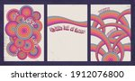 psychedelic background set ... | Shutterstock .eps vector #1912076800