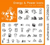 set of icons for energy and... | Shutterstock .eps vector #191208623