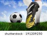 composite image of football... | Shutterstock . vector #191209250