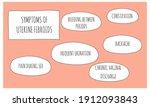 symptoms of uterine fibroids. ...   Shutterstock .eps vector #1912093843