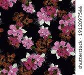 beautiful seamless floral... | Shutterstock . vector #1912097566