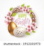 happy easter greeting... | Shutterstock .eps vector #1912101973