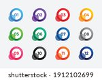 abstract circle bullet points... | Shutterstock .eps vector #1912102699